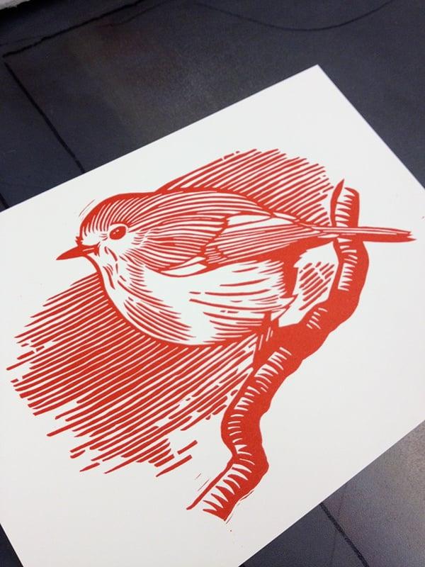 Image of Robin Linocut