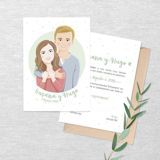 Image of Invitación de boda personalizada