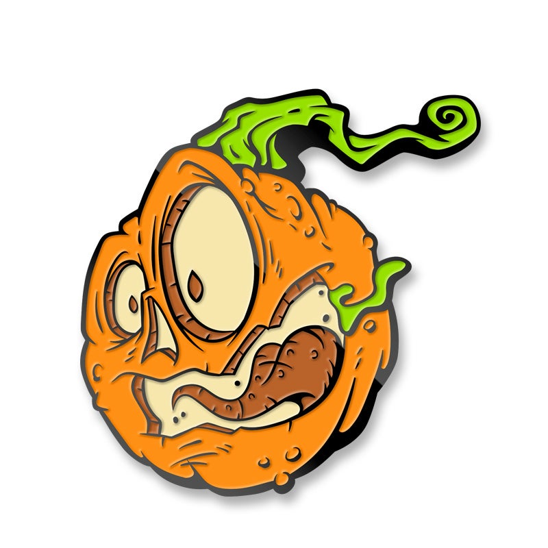 Image of Fear of the Zombie Pumpkins! Enamel Lapel Pin Set