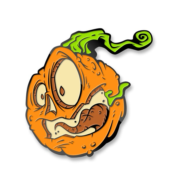 "Image of ""Fear of the Zombie Pumpkins!"" Enamel Lapel Pin Set"