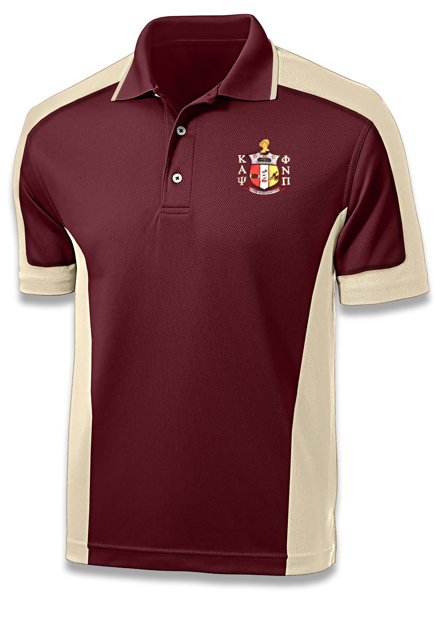 Image of Coat of Arms Sport Polo - Crimson/Cream Two-Tone