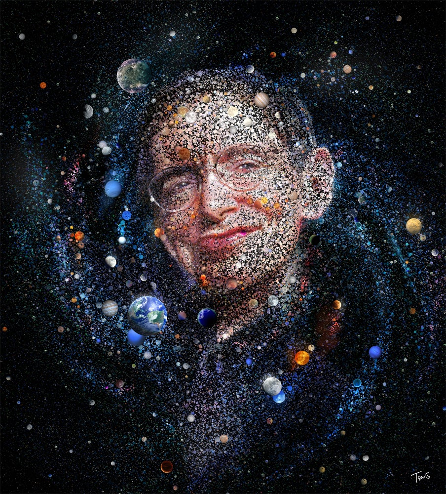 Image of The amazing universe of Stephen Hawking (Limited edition fine art prints)