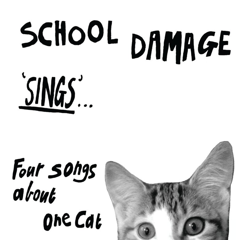 Image of SCHOOL DAMAGE - 'Sings... Four Songs About One Cat'