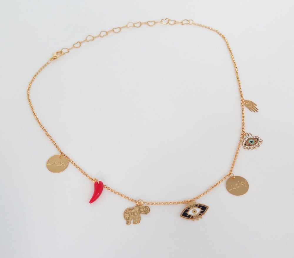 Image of Single Lucky Horn Necklace