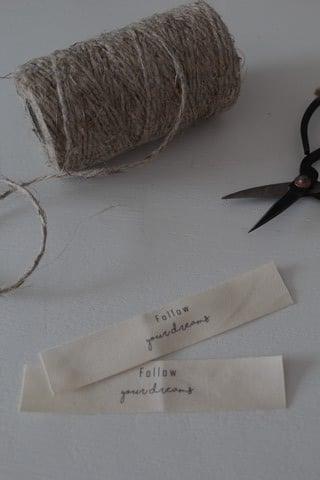 Image of Etiquette coton imprimée FOLLOW ...