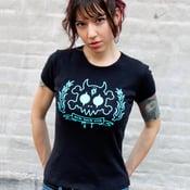 Image of Skull & Bones Crest Baby Rib Cap Sleeve T-Shirt