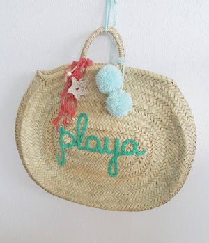 Image of Capazo Ovalado / Oval Beach Bag