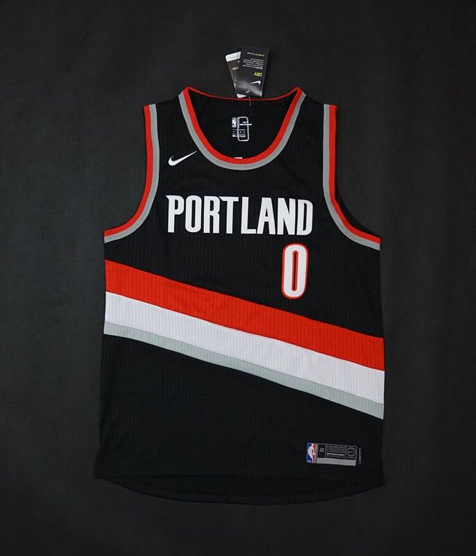 Image of Portland Trail Blazers #0 Damian Lillard Nike NBA Jerseys