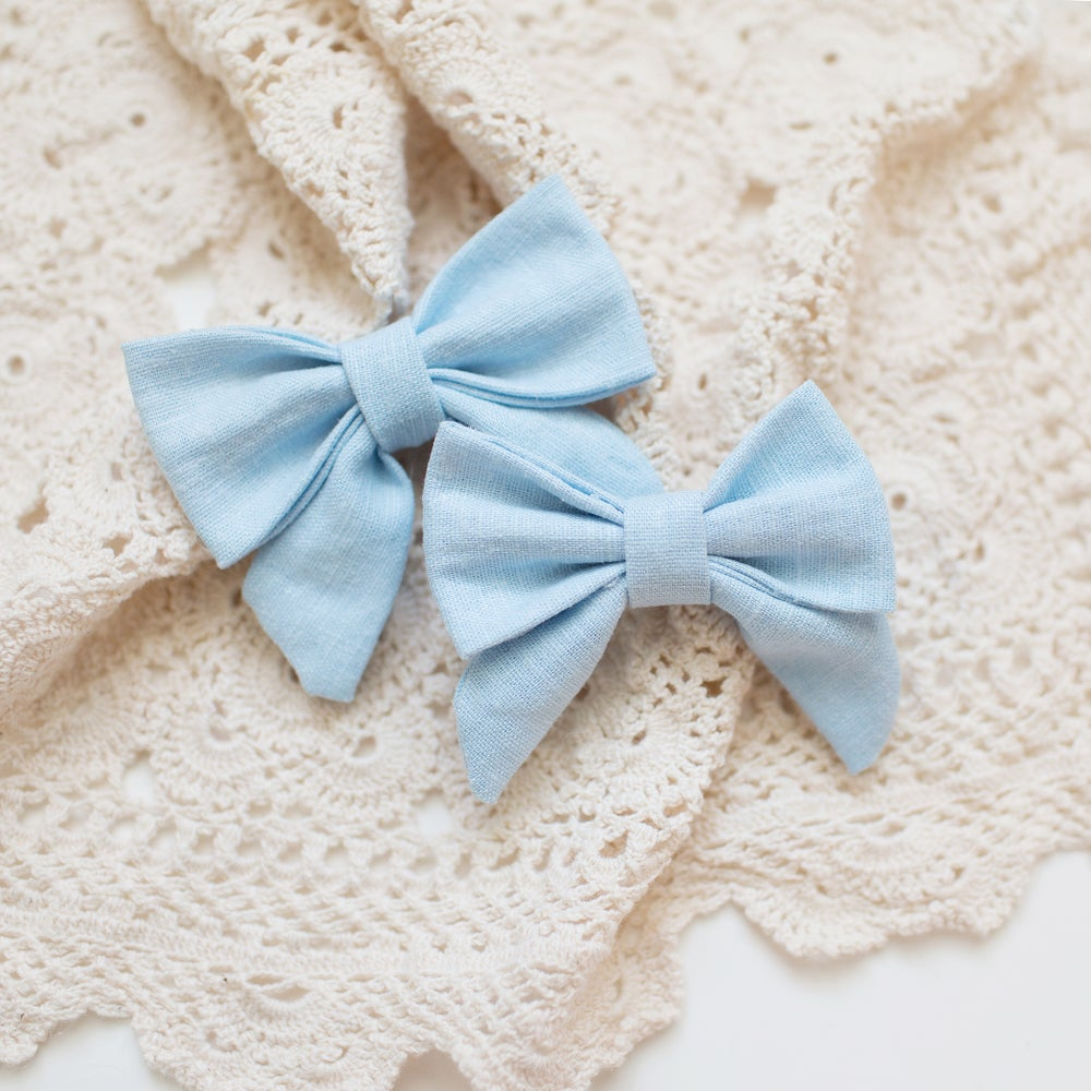 Image of pale blue linen