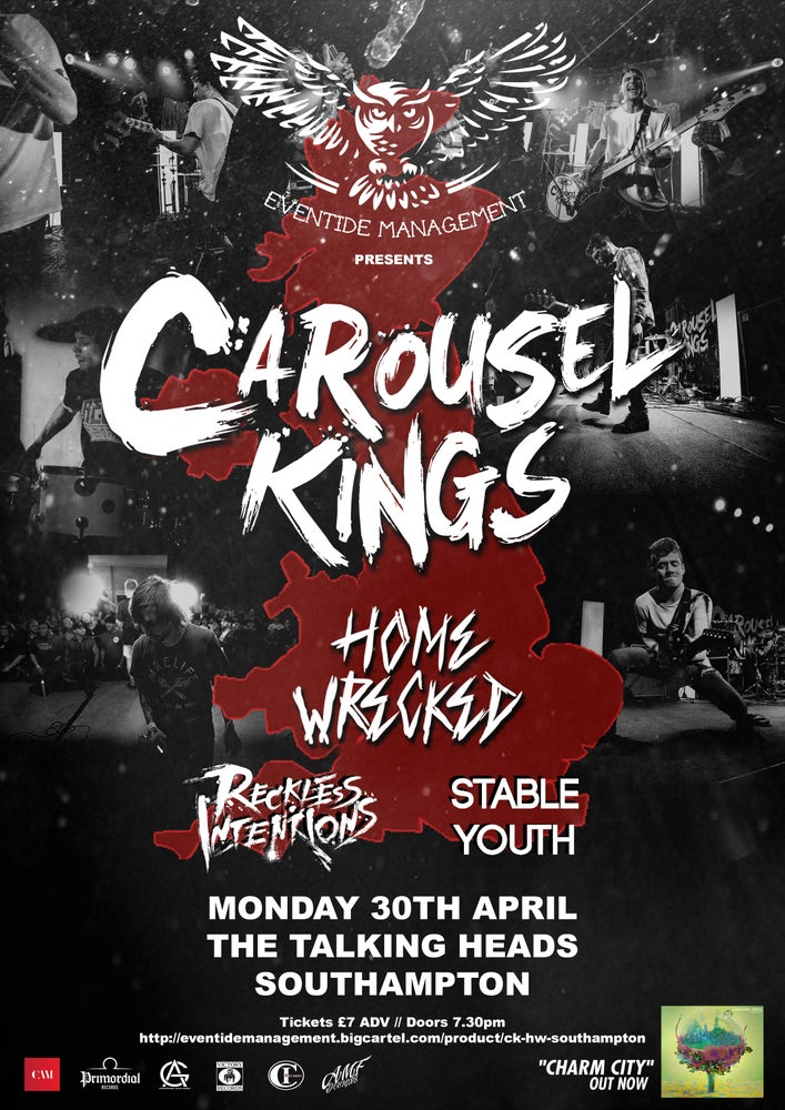 Image of Carousel Kings + Home Wrecked @ The Talking Heads, Southampton