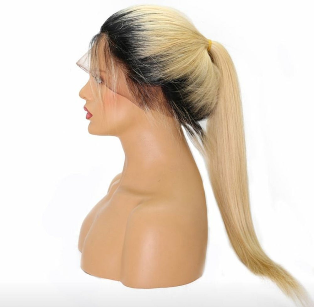 """Image of 20""""#613 lace front wig unit with black roots"""