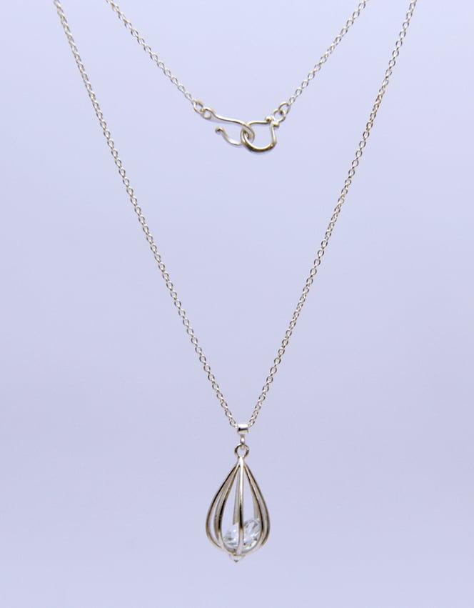 "Image of Medium ""Momento"" Teardrop Pendant Necklace with Crystal Quartz"