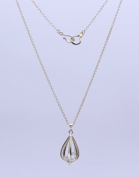 "Image of Medium ""Momento"" Teardrop Pendant Necklace with Crystal Quartz"