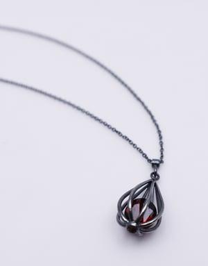 "Image of Medium ""Momento"" Teardrop Pendant Necklace with Garnet"