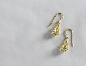 """Image of Small """"Momento"""" Teardrop Earrings 18K Yellow Gold with Crystal Quartz"""