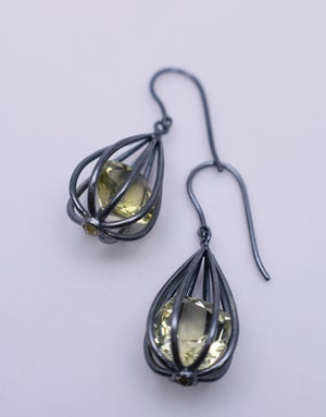 "Image of Large ""Momento"" Teardrop Earrings with Lemon Quartz"