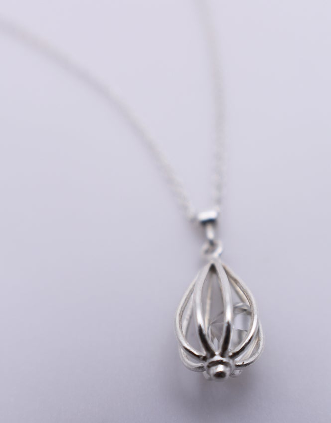 "Image of Small ""Momento"" Teardrop Necklace with Crystal Quartz"