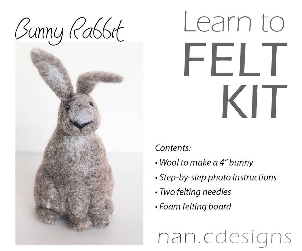 Image of Bunny Rabbit - Needle Felting Kit