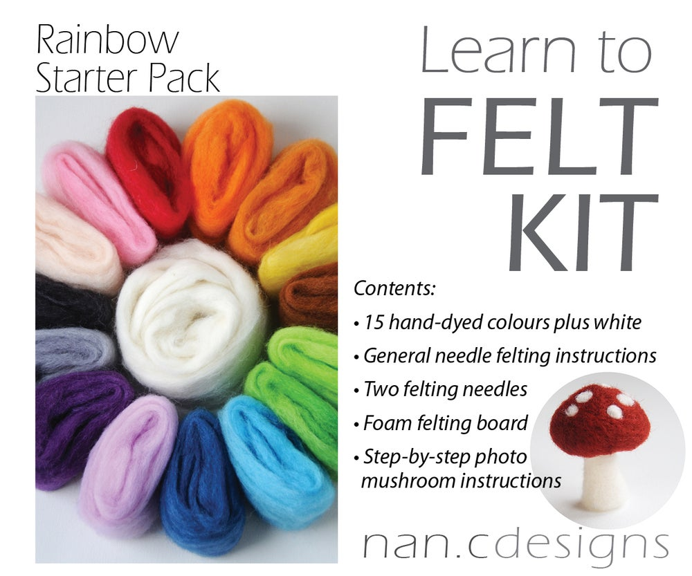 Image of Rainbow Starter Pack - Needle Felting Kit