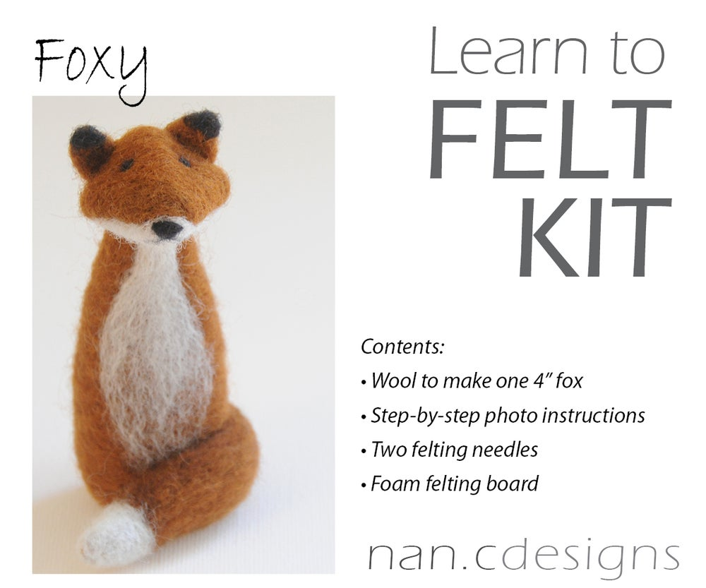 Image of Foxy - Needle Felting Kit