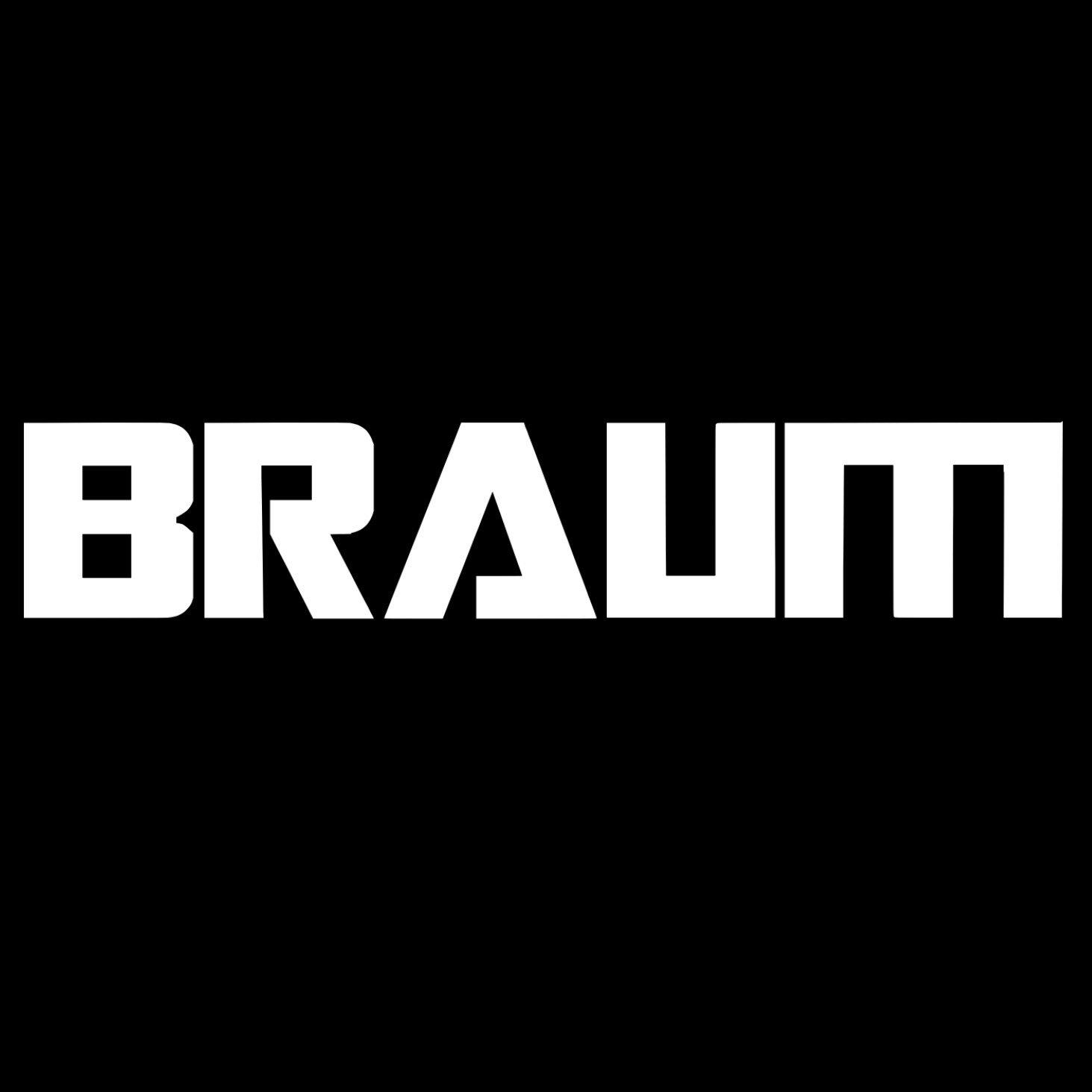 "Image of 20"" x 4""   BRAUM Racing Windshield Banner"