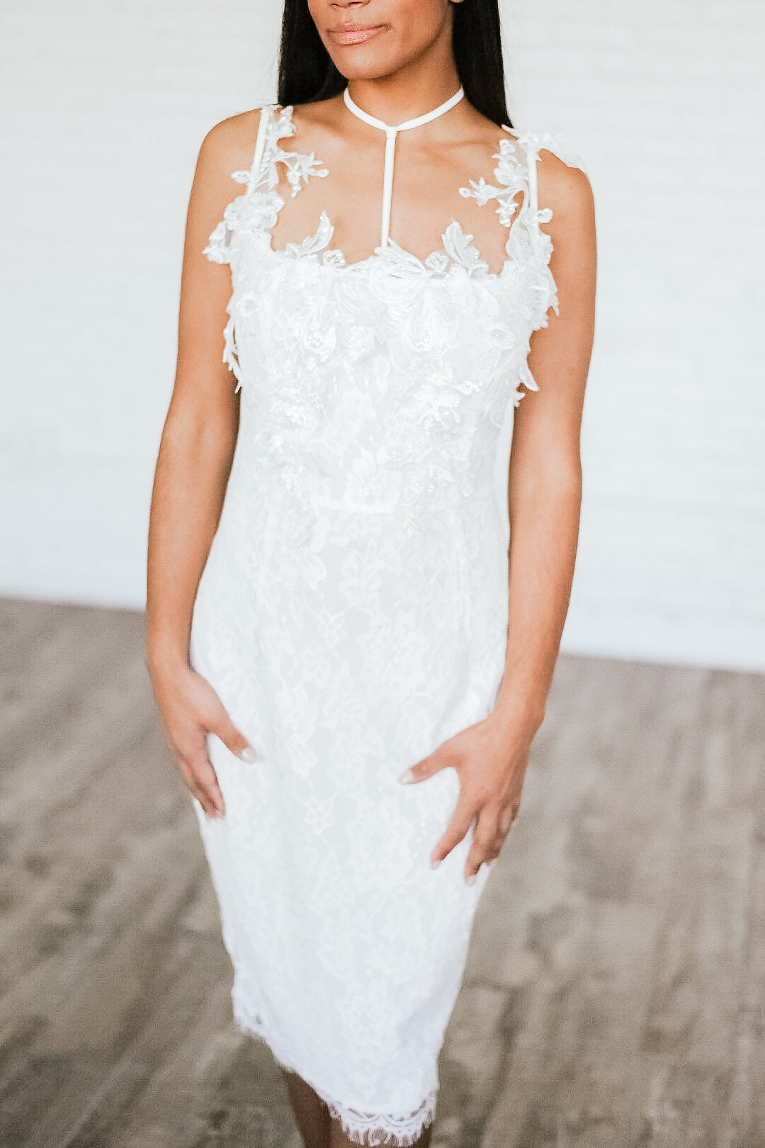 Image of 'Mariciela' Lace Choker Dress