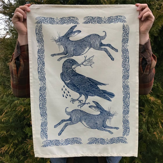 Image of Hare and Rook tea towels