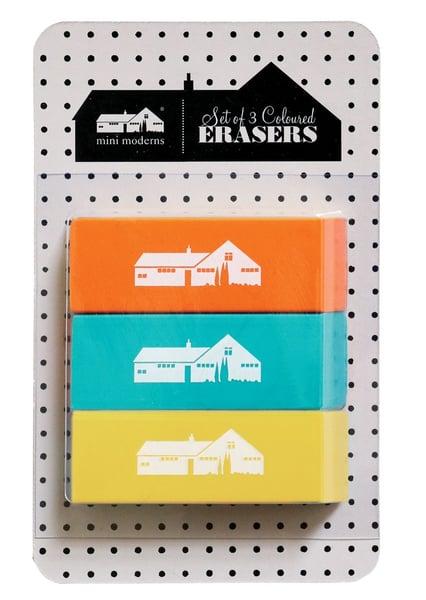 Image of Set of 3 Erasers