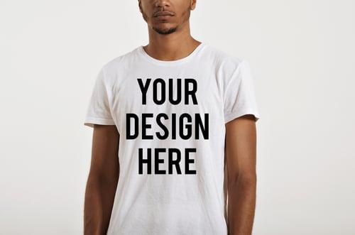 Image of Custom Design on White T Shirts