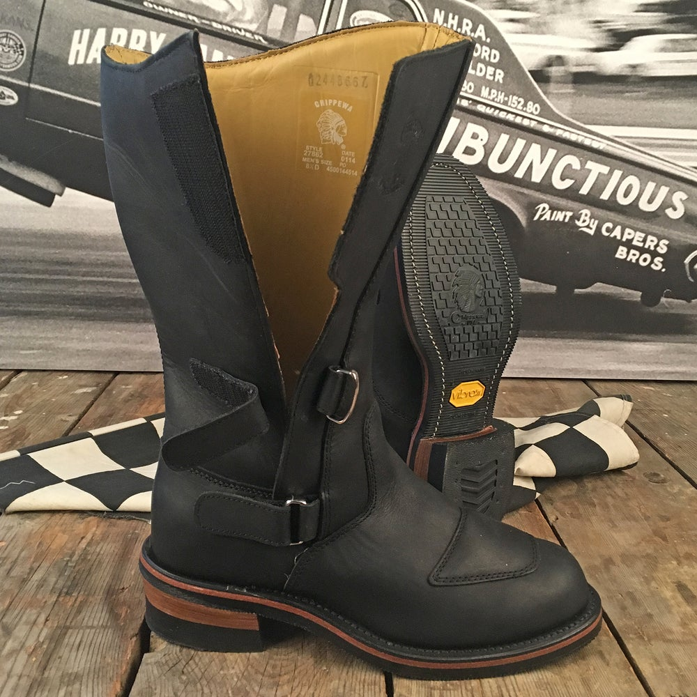 "Image of SONDERPREIS CHIPPEWA 12"" RALLY MOTORCYCLE BOOT"