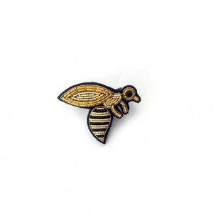 "Image of BROCHE BRODÉE ""BEE"", MACON & LESQUOY"