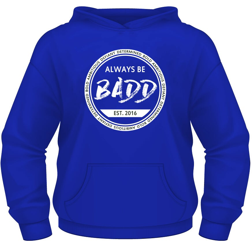 Image of Bold Ambitious Defiant Determined Royal Blue Pullover Hoodie