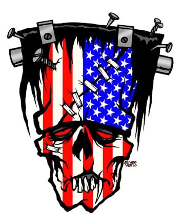 Image of FRANKENSTEIN USA - STICKER