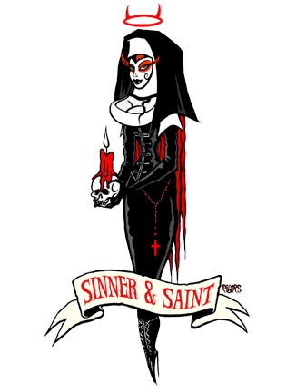Image of SINNER AND SAINT - STICKER