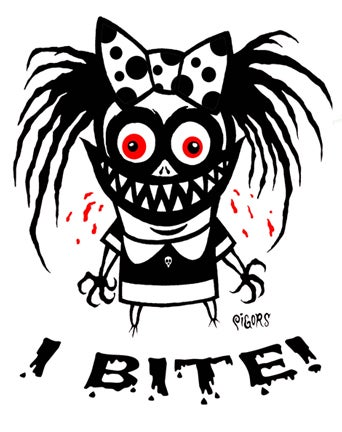 Image of I BITE - STICKER