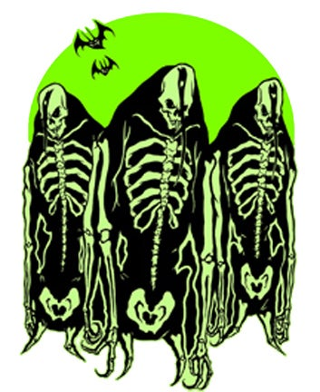 Image of 3 FIEND3 BONES GHOULS - STICKER