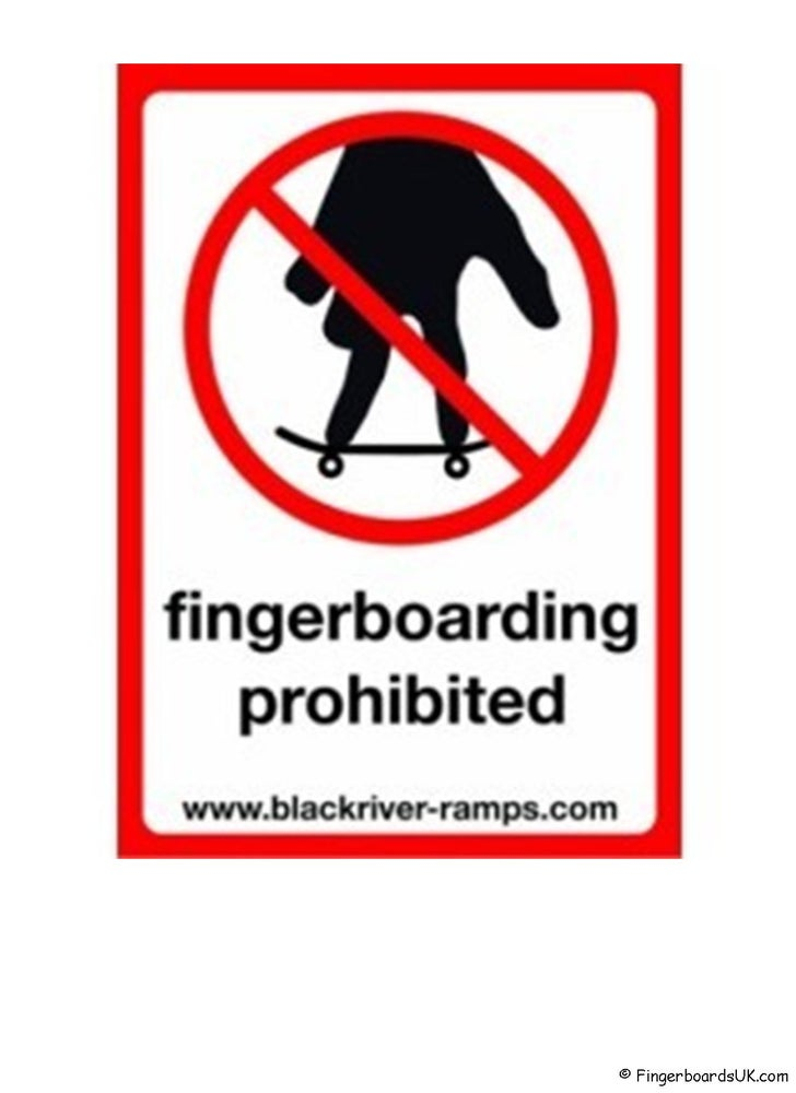 Image of Blackriver Ramps Prohibited Sticker