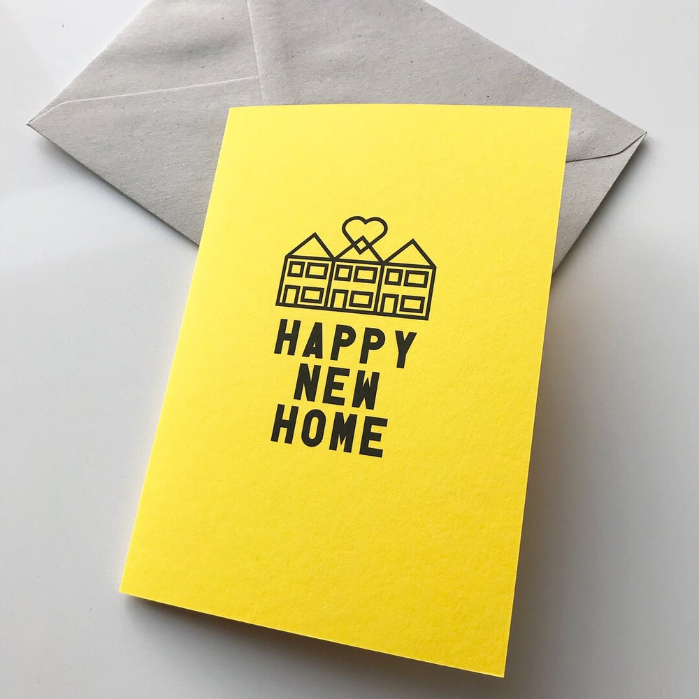 Image of TERRACE Happy New Home card range by fingsMCR