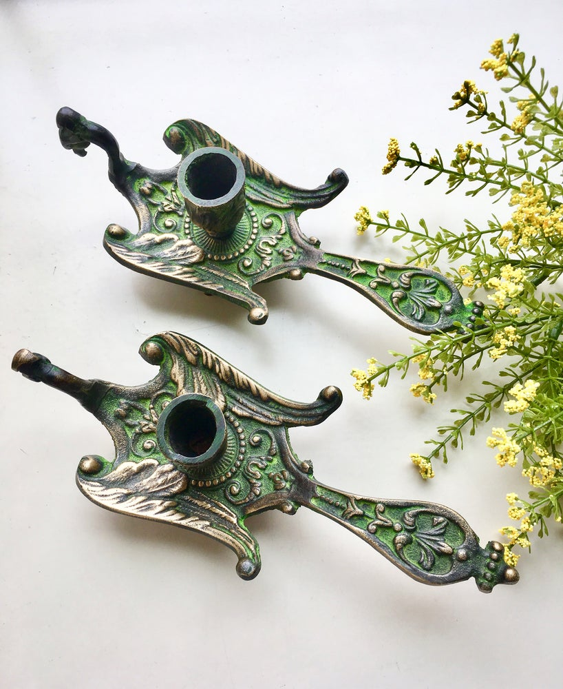 Image of Pair of Vintage Candleholders