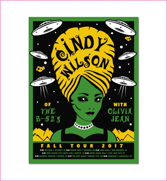 Image of Cindy Wilson Limited Fall 2017 Tour Poster