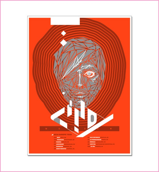 Image of Cindy Wilson Signed Limited Edition Metallic European Tour Poster