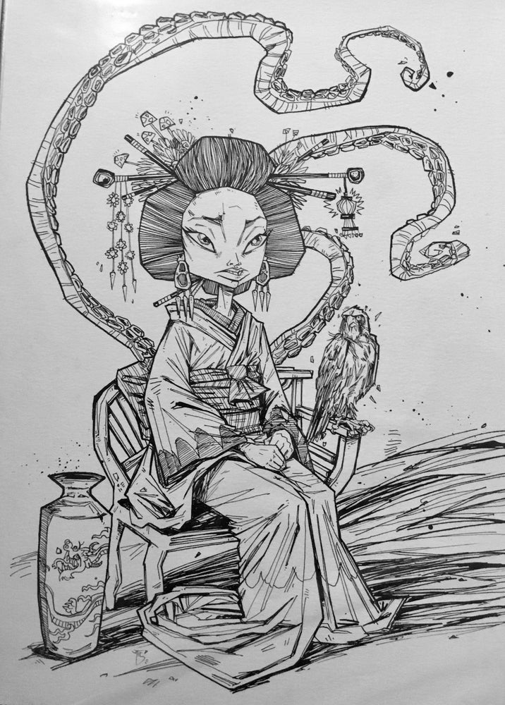 Image of Geisha that I think I made into a painting