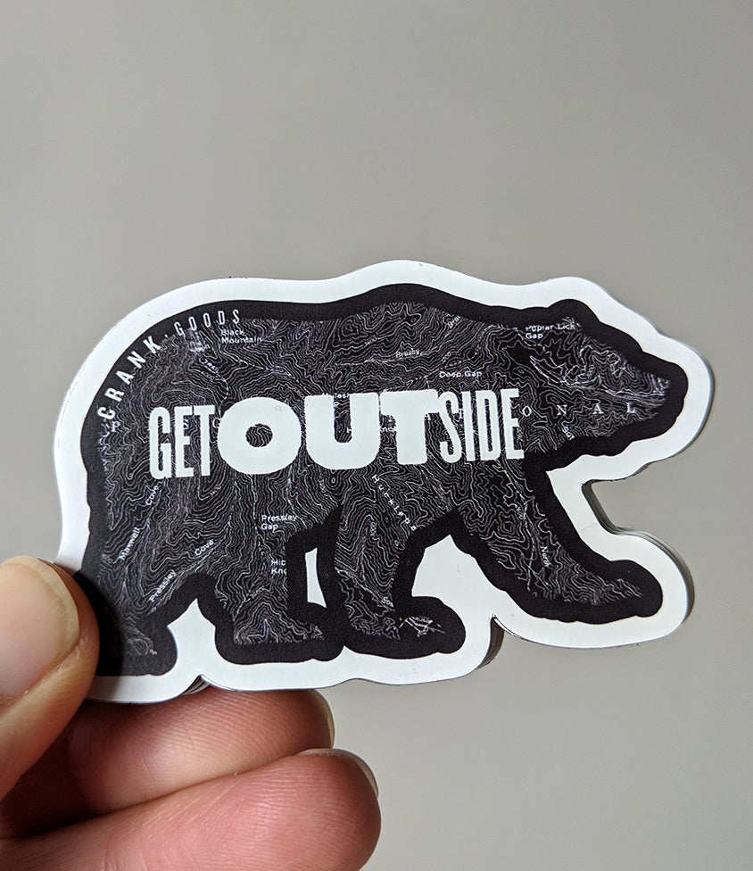 "Image of CRANK Goods ""Get Outside, Bear!"" Magnet"
