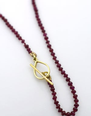 "Image of ""Momento"" Ruby Necklace in 18K Gold"