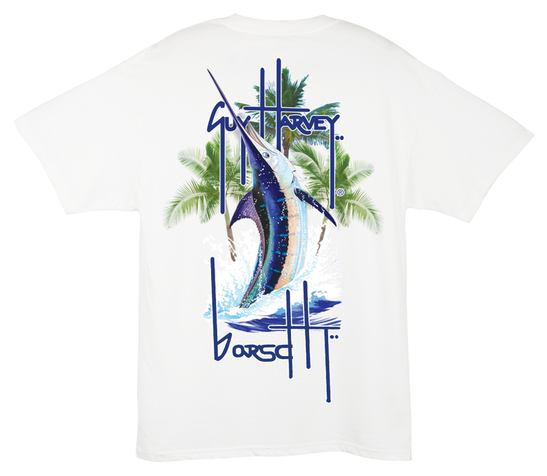 Image of Guy Harvey Pocket Tee (White)
