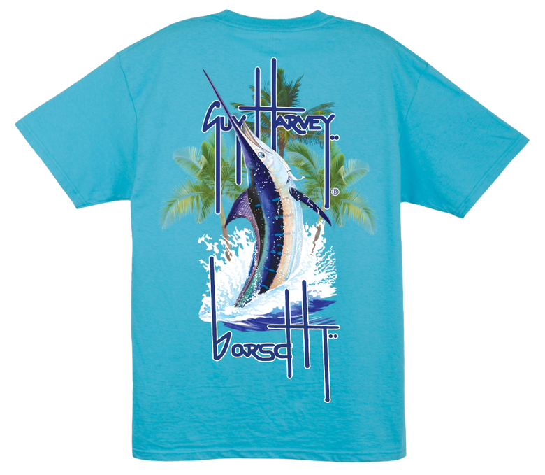 Image of Guy Harvey Pocket Tee (Aqua)