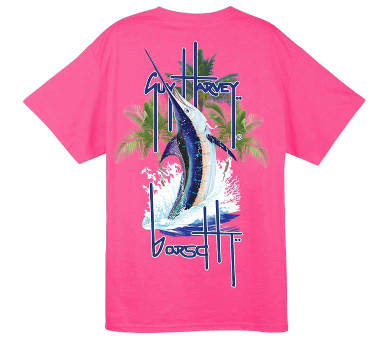 Image of Guy Harvey Pocket Tee (Pink)