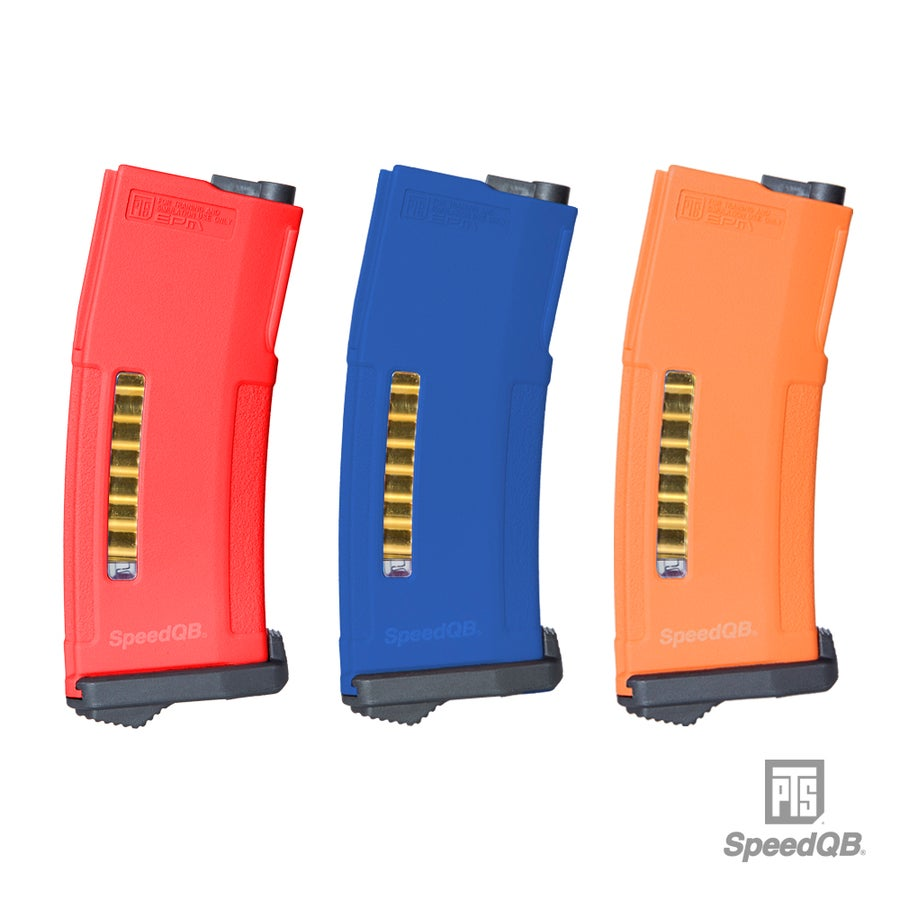Image of SpeedQB x PTS EPM - Red/Blue/Orange (3 Mag Set)