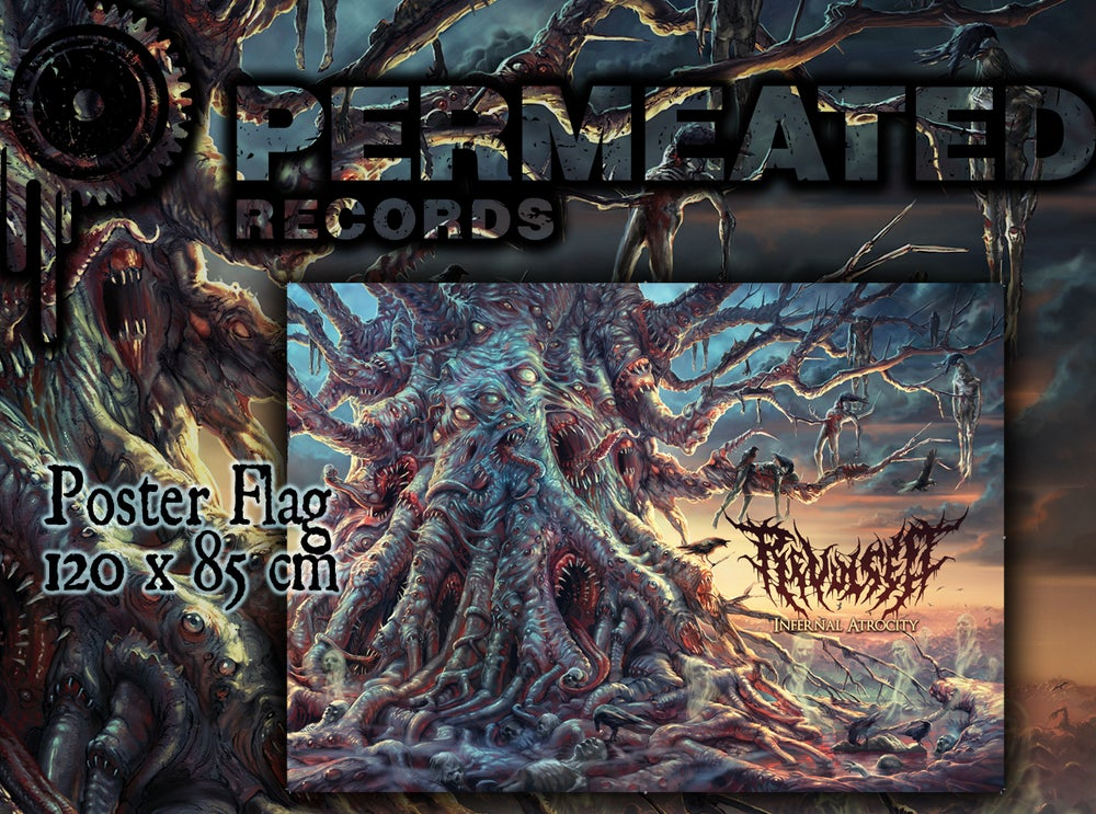 Image of Revulsed - Infernal Atrocity - Artwork Flag Poster