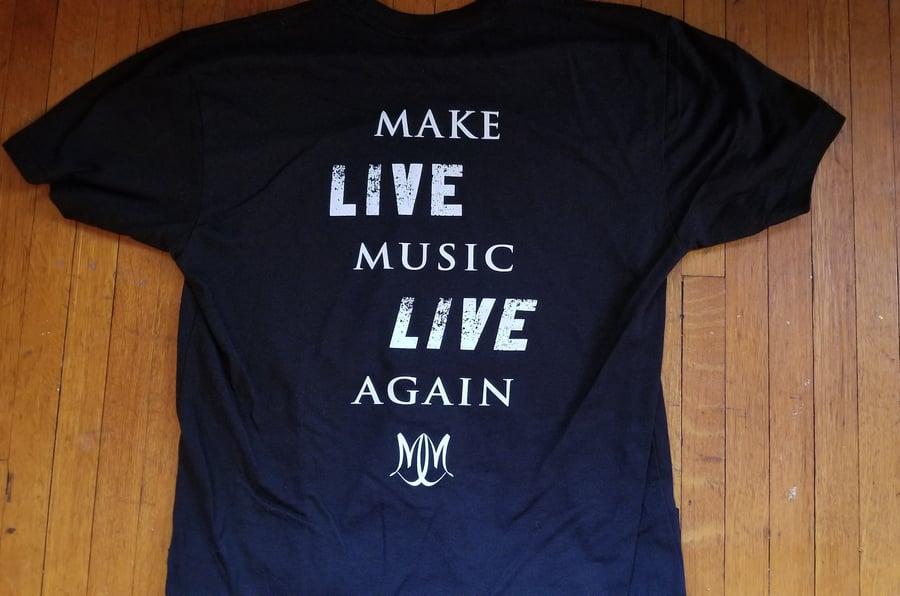 Image of MindMaze Make Live Music Live Again Logo Shirt